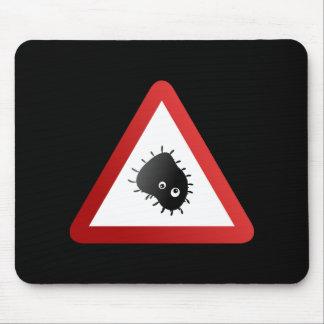 Señal de peligro de las bacterias tapete de ratones