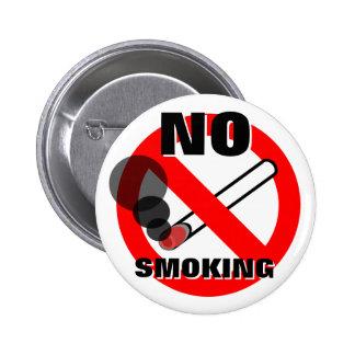 Señal de peligro de no fumadores pin redondo de 2 pulgadas