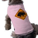 Señal de peligro de Wombat Camisetas Mascota