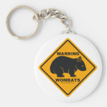 Señal de peligro de Wombat Llaveros Personalizados