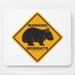 Señal de peligro de Wombat Tapete De Raton