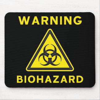 Señal de peligro del Biohazard Mousepad Alfombrillas De Ratón