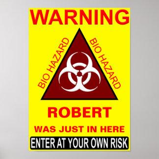(Señal de peligro del cuarto de baño del nombre de Impresiones