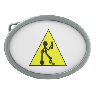 Señal de peligro del descanso para tomar café hebilla de cinturon