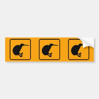 Señal de peligro del diamante del amarillo del ico pegatina de parachoque