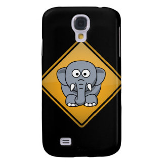 Señal de peligro del elefante del dibujo animado funda para galaxy s4