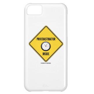 Señal de peligro del interior del Procrastinator Funda Para iPhone 5C