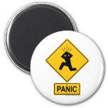 Señal de peligro del pánico iman de frigorífico