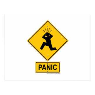 Señal de peligro del pánico tarjetas postales