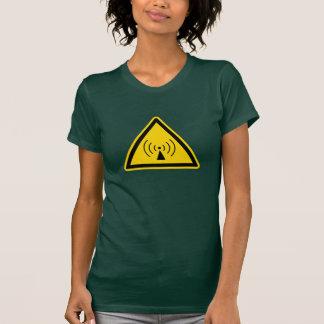 señal de peligro del rf camiseta