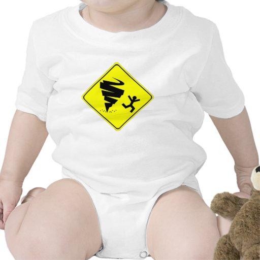 Señal de peligro del tornado traje de bebé