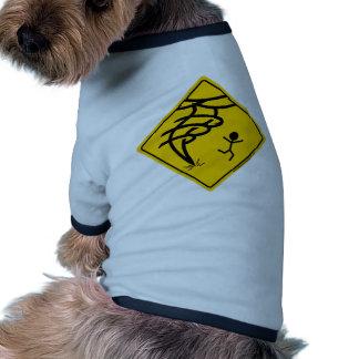 Señal de peligro del tornado ropa de perro