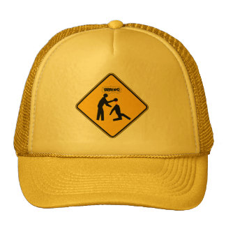 Señal de peligro del zombi gorras