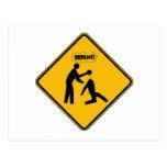 Señal de peligro del zombi tarjetas postales