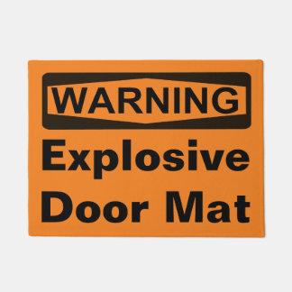 Señal de peligro - estera de puerta adaptable felpudo
