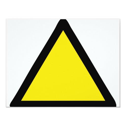 señal de peligro invitacion personalizada