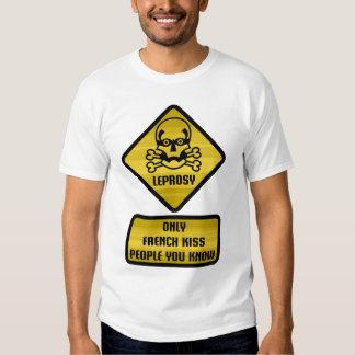 Señal de peligro - lepra remera