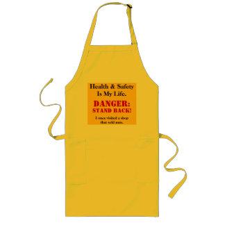 Señal de peligro loca de salud y de la seguridad - delantal largo