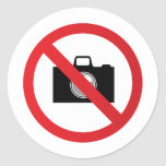 Señal de peligro ninguna cámara pegatina
