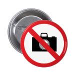 Señal de peligro ninguna cámara pin