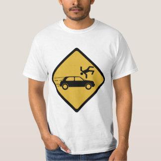 Señal de peligro portuguesa - guárdese de coches polera