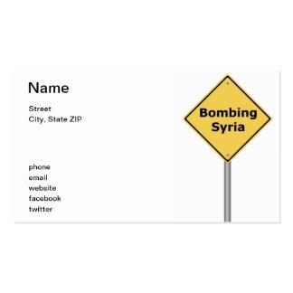 Señal de peligro que bombardea Siria Tarjetas De Visita