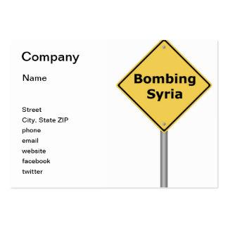 Señal de peligro que bombardea Siria Tarjeta De Visita