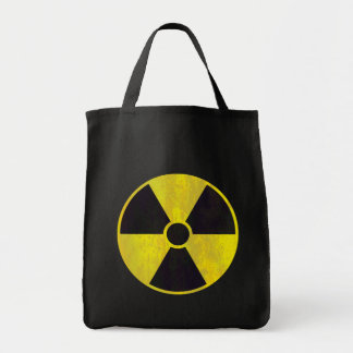 Señal de peligro radiactiva - bolso bolsa tela para la compra