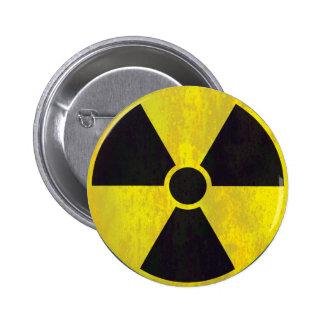 Señal de peligro radiactiva - botón pin