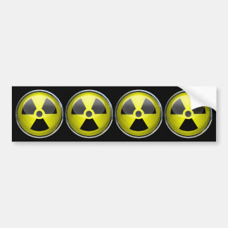 Señal de peligro radiactiva del símbolo de la radi etiqueta de parachoque