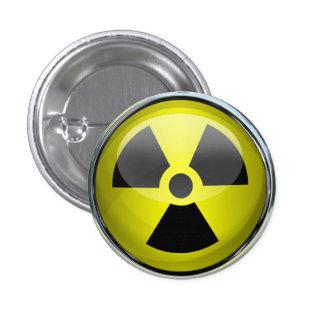 Señal de peligro radiactiva del símbolo de la radi pin