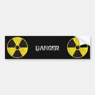 Señal de peligro radiactiva - pegatina para el par pegatina para auto