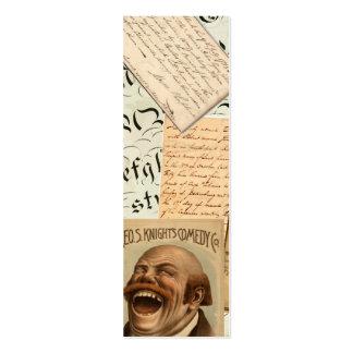 Señal de risa de las Ephemeras Tarjetas De Visita Mini