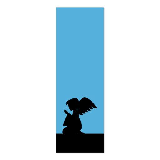 Señal de rogación azul del ángel tarjetas de visita mini