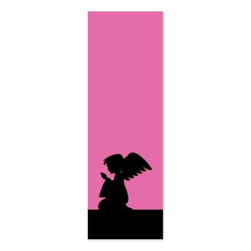 Señal de rogación rosada del ángel tarjetas de visita mini