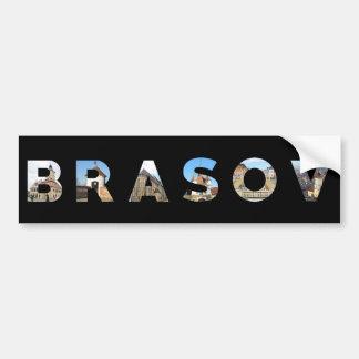 señal de Rumania de la ciudad de brasov dentro del Pegatina Para Auto