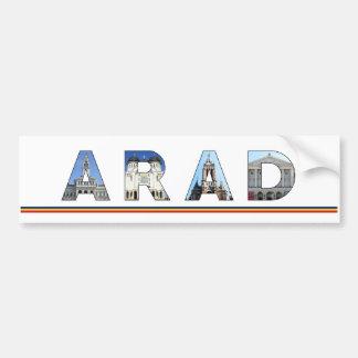 señal de Rumania de la ciudad del arad dentro del Pegatina Para Auto
