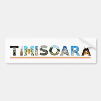 señal de Rumania de la ciudad del timisoara dentro Pegatina Para Auto