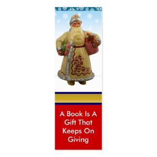 Señal de Santa del navidad Plantilla De Tarjeta De Visita