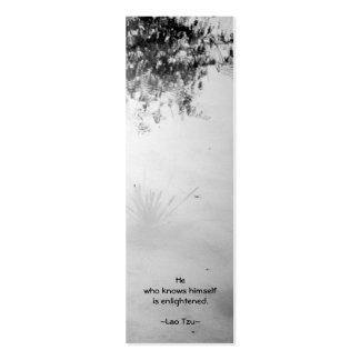 Señal de Self-reflection/TAO-Te-Ching Tarjetas De Visita Mini