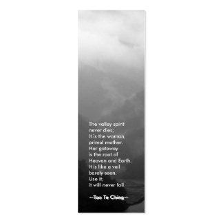 Señal de Tao Te Ching No.6/ Tarjeta Personal