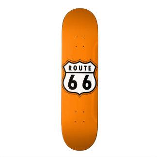 Señal de tráfico anaranjada de la ruta 66 monopatin personalizado