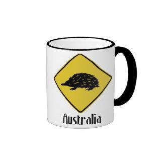 Señal de tráfico de Australia - Echidna Taza De Café