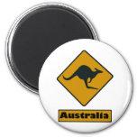 Señal de tráfico de Australia - travesía del cangu Imán De Nevera