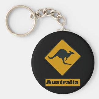 Señal de tráfico de Australia - travesía del cangu Llavero Redondo Tipo Pin