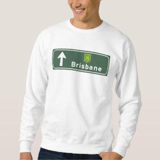 Señal de tráfico de Brisbane, Australia Sudadera Con Capucha