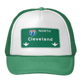 Señal de tráfico de Cleveland, OH Gorras De Camionero