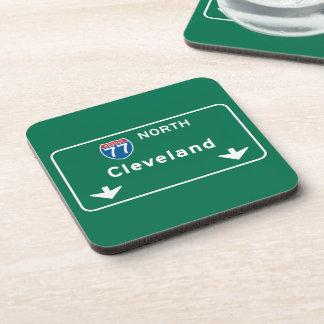 Señal de tráfico de Cleveland, OH Posavasos