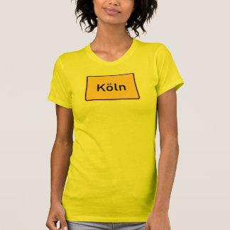 Señal de tráfico de Colonia, Alemania Camisetas