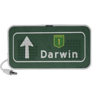 Señal de tráfico de Darwin, Australia Portátil Altavoces